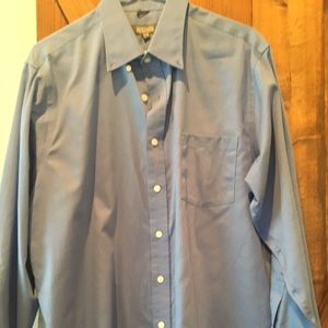 Blue long sleeve Kenneth Cole reaction shirt